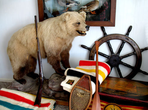 taxidermy grizzly bear